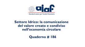 Settore Idrico - # Q 186