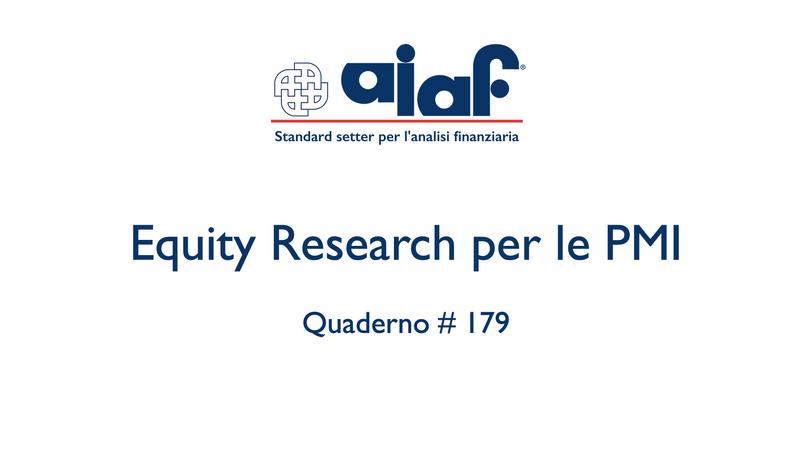 Equity Research per le PMI - Q. #179
