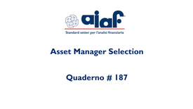 Asset Manager Selection - Q #187