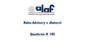 Robo Advisory e dintorni - Q #185