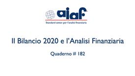 Il Bilancio 2020 e l'analisi finanziaria - Q. #182