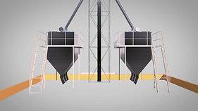 Мельинвест. 3D анимация работы комбикормового завода