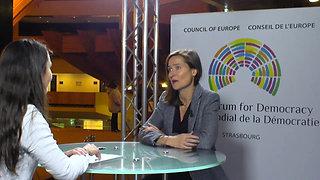 Sylvia Cleff Le Divellec au Forum Mondial de la Démocratie 2018