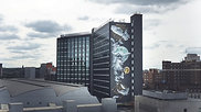 The UK's Tallest Street Art Mural : Nomad Clan 'Athena Rising'