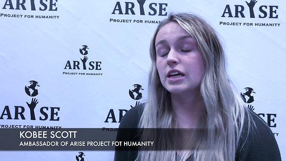 Kobee Scott, Ambassador Of ARISE