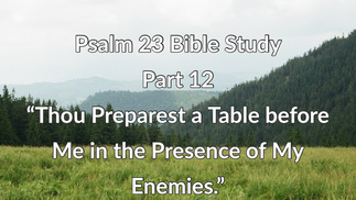 """Psalm 23 Bible Study: Part 12 """"Thou Preparest a Table Before a Me in the Presence of Mine Enemies."""""""