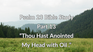 """Psalm 23 Bible Study: Part 13 """"Thou Hast Anointed My Head with Oil."""""""