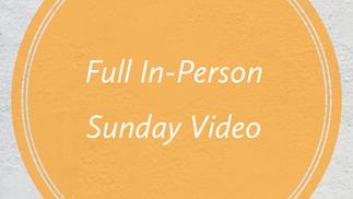 November 1st Full Sunday Service Video