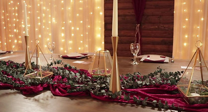 Event Center Decorated by Celebrations by Rent-All Inc.