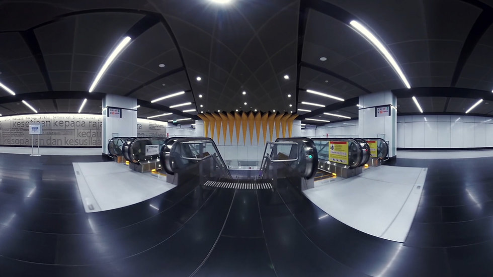 MRT SBK ( Line 1 ) Underground Stations in 360 Video VR Tour