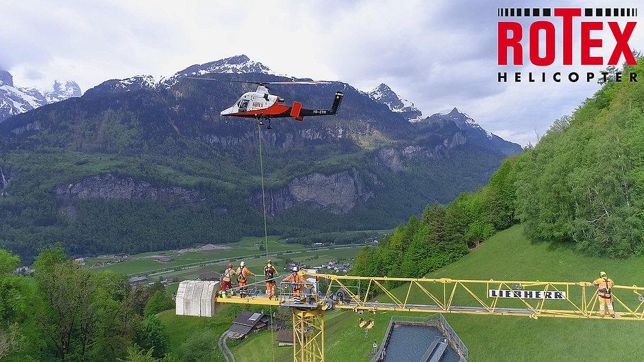 Rotex Helicopter AG   Kran-Montage Meiringen