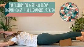 1hr Extension & Spinal Focus Posture Class