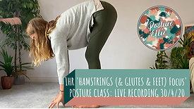 1hr Hamstrings (& Glutes & Feet) Focus Posture Class