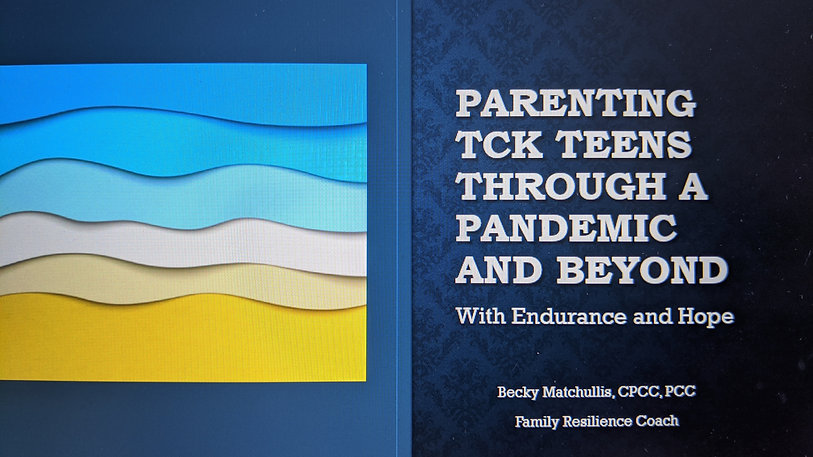 Parenting TCK Teens through Grief and Covid