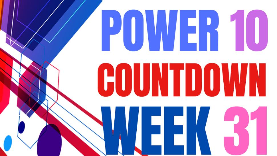 top 10 countdown week 31