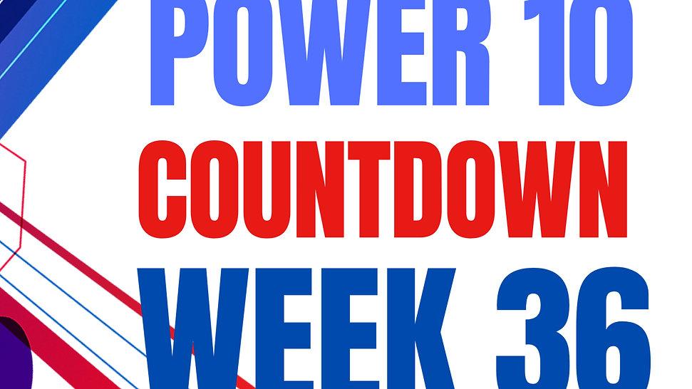 top 10 countdown week 36