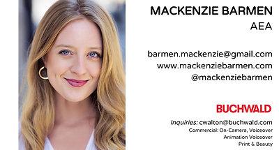 Mackenzie Barmen | Demo Reel