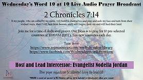 10 at 10 Live Audio Prayer Broadcast 4-24-20