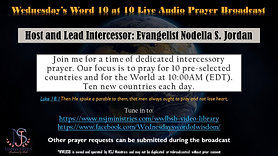 10 at 10 Live Audio Prayer Broadcast 5-8-20