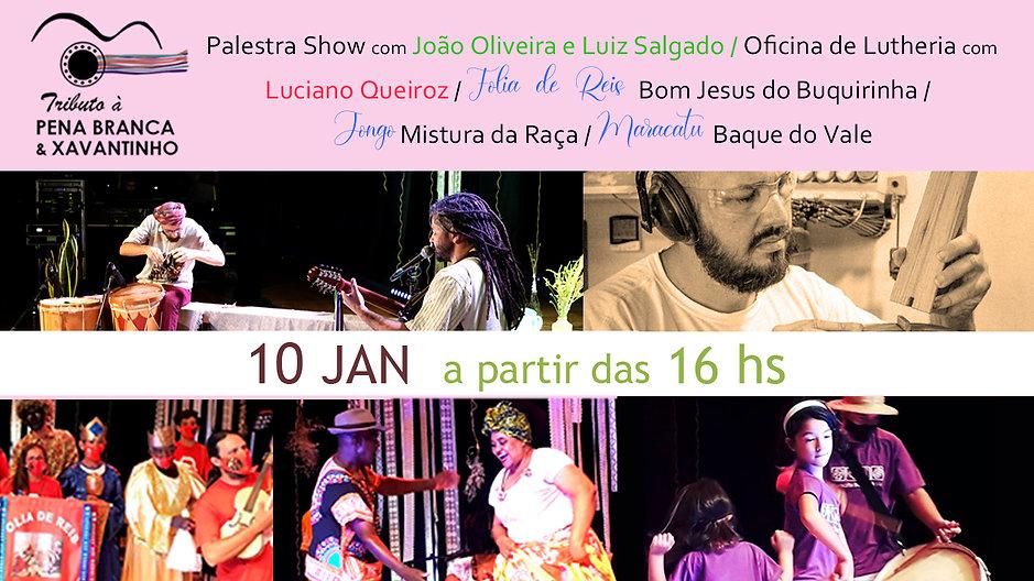 [Programação 10 jan - 5º dia] 3º Festival de Arte Vale do Paraíba | Tributo à Pena Branca & Xavantinho