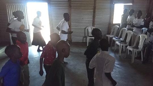 Worship at Salem Church, Uganda