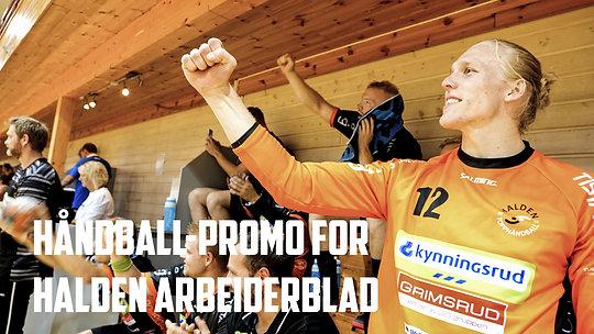 Håndball-promo for Halden Arbeiderblad