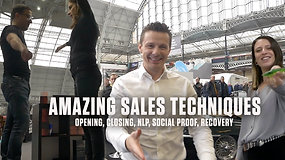 Amazing Sales Techniques: Analysing sales-people, classic closers, NLP