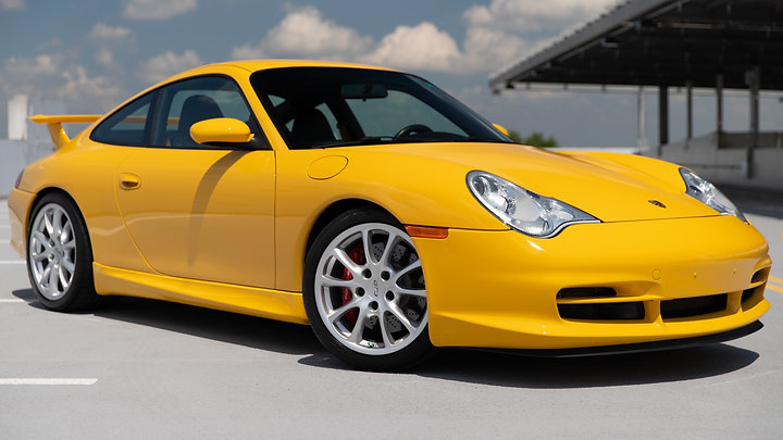 2004 Porsche 911 GT3 | Speed Yellow over Black