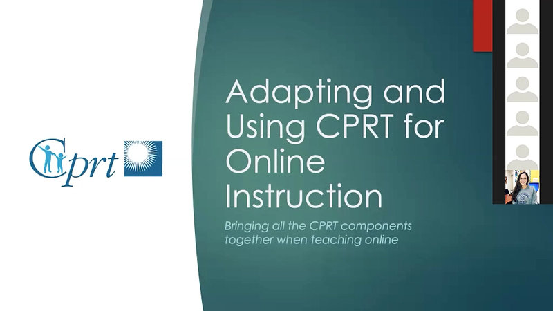 CPRT in Online Instruction Webinar Recording