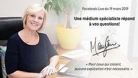 #50 FB live : Une spécialiste médium répond à vos questions