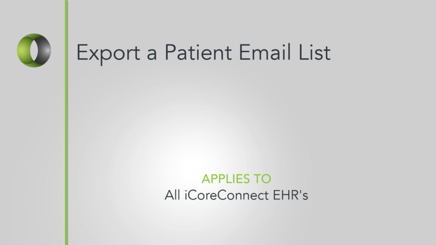 50 - Patient Email List Export