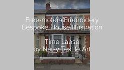 Bespoke House Illustration - Cardiff