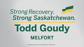 Todd Goudy Sask Party 2020