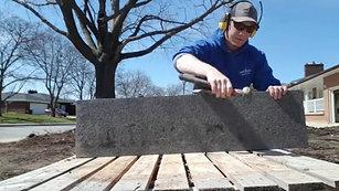 Field dressing granite coping