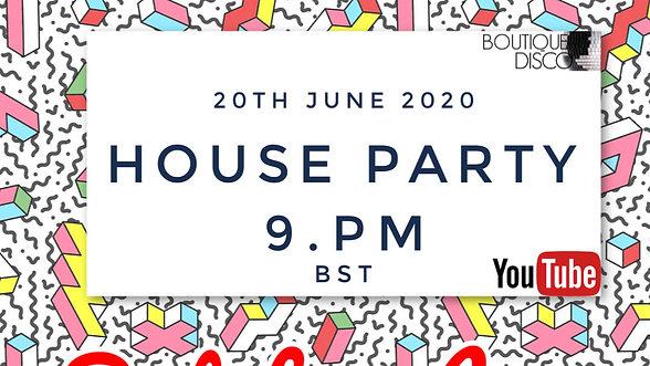 HOUSE PARTY LIVESTREAM