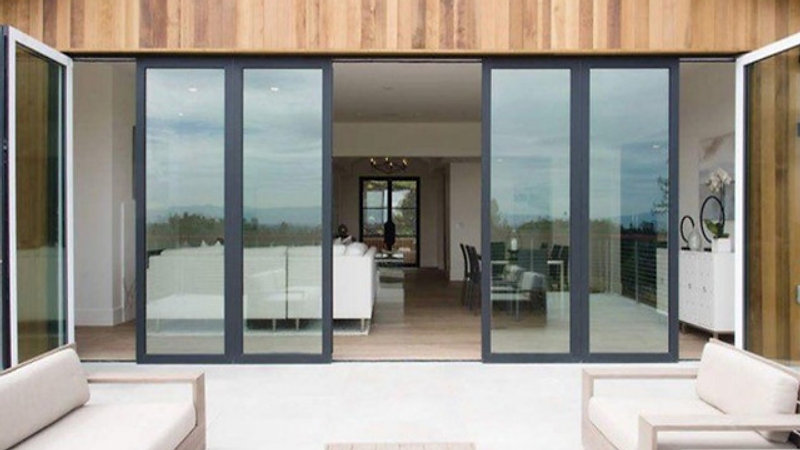 Panoramic Slide and Turn Doors Video