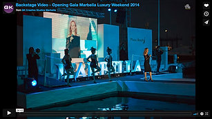 Backstage Video - Opening Gala Marbella Luxury Weekend 2014