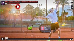 Soto Tennis Academy - One day at the Academy