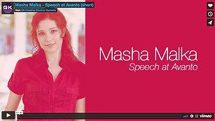 Masha Malka - Speech at Avanto (short)