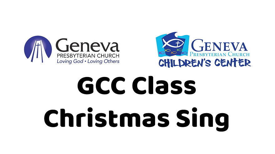 GCC Class Christmas Sing