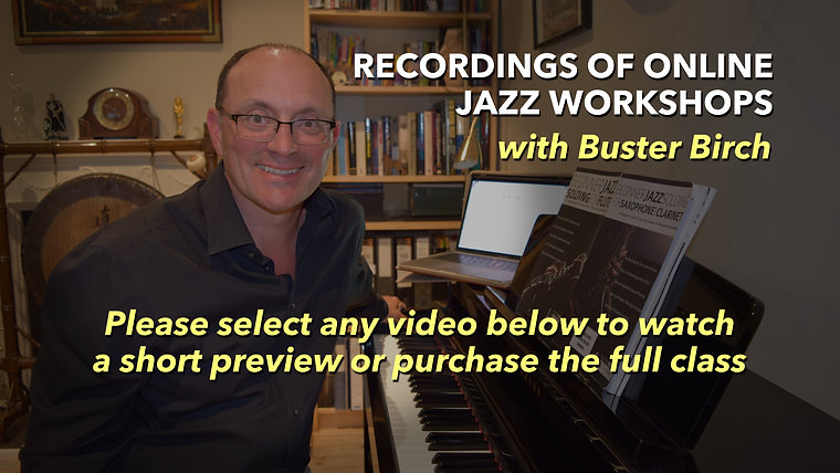 Recordings of Online Jazz Workshops
