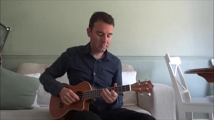 Nice ukulele chords and The Flintstones!