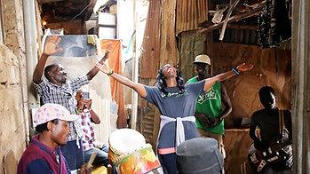 Myshel Impromptu Singing in Kampala Slums