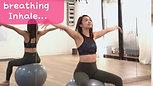 Prenatal Yoga Tutorial - Breathing Exercise on Fitball