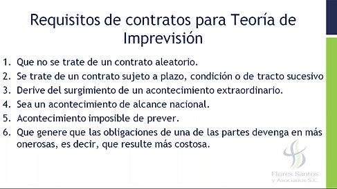 4.- Teoría de la Imprevisión