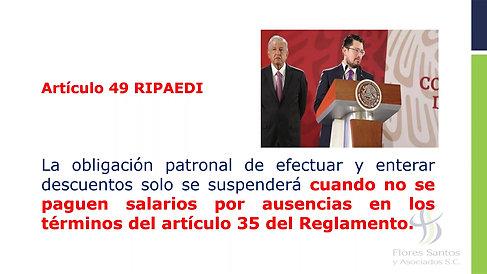 5.- Obligaciones ante el IMSS e INFONAVIT ante la suspensión de la relación de trabajo decretada por decreto de autoridad competente