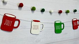 Coffee Cup Garland