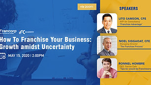 Franchise Your Business Webinar: Growth Amidst Uncertainty
