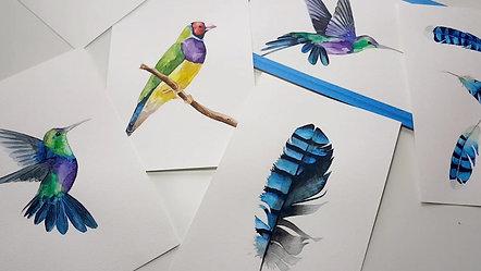 """Watercolor workshop """"Birds"""""""