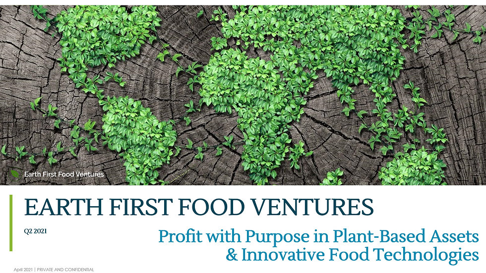 7 Apr 2021 - Invest in Alternative Proteins - webinar hosted by Family Office Insights